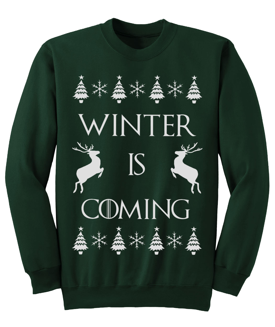 Super Game of Thrones 'Winter is Coming' CHRISTMAS jumper Sweatshirt NEW  PV25