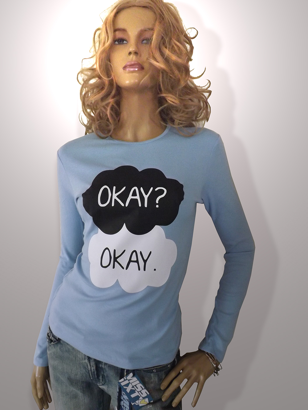 88b40a6dc5 Fault in our stars Okay  Okay! long sleeve t-shirt