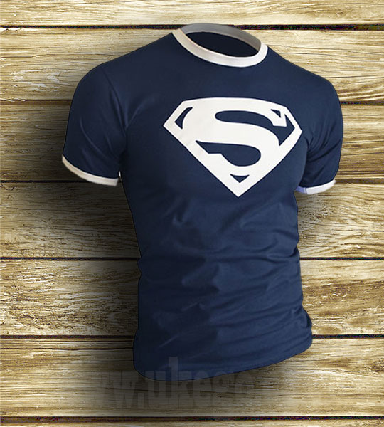 Superman Inspired Retro Style T Shirt Reverb Clothing