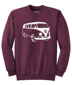 VW T1 Sweater - maroon
