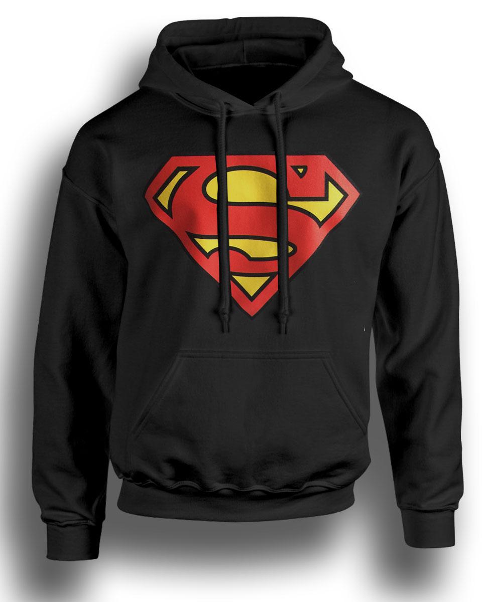 RETRO 80/'S TV SUPERHERO COSTUME HOODIE SUPERMAN HOODIE NEW ALL SIZES