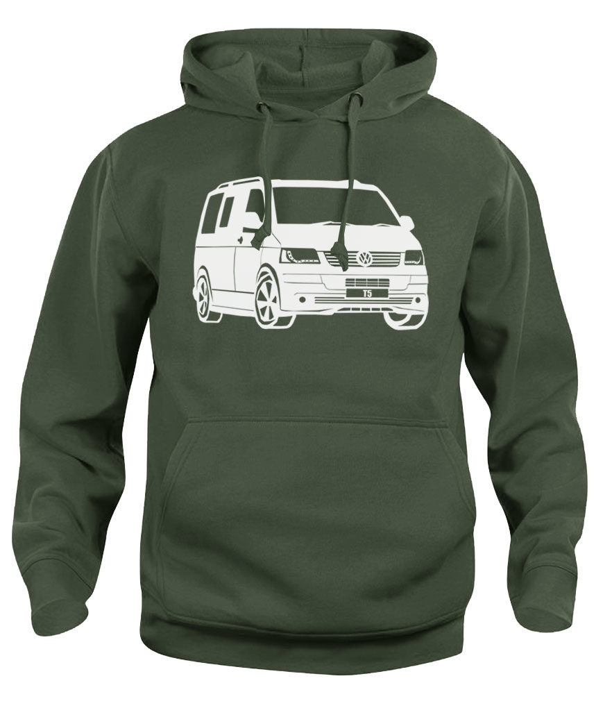 vw t5 - army green