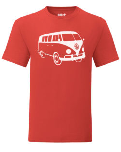 vw t1 tee - red