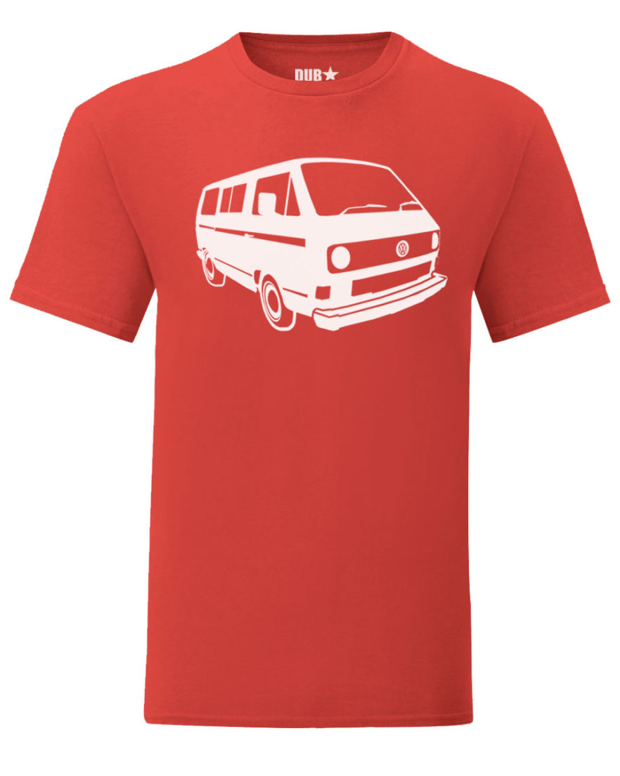 vw t3 tee - red