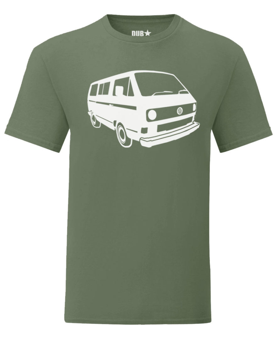 vw t3 tee - army green