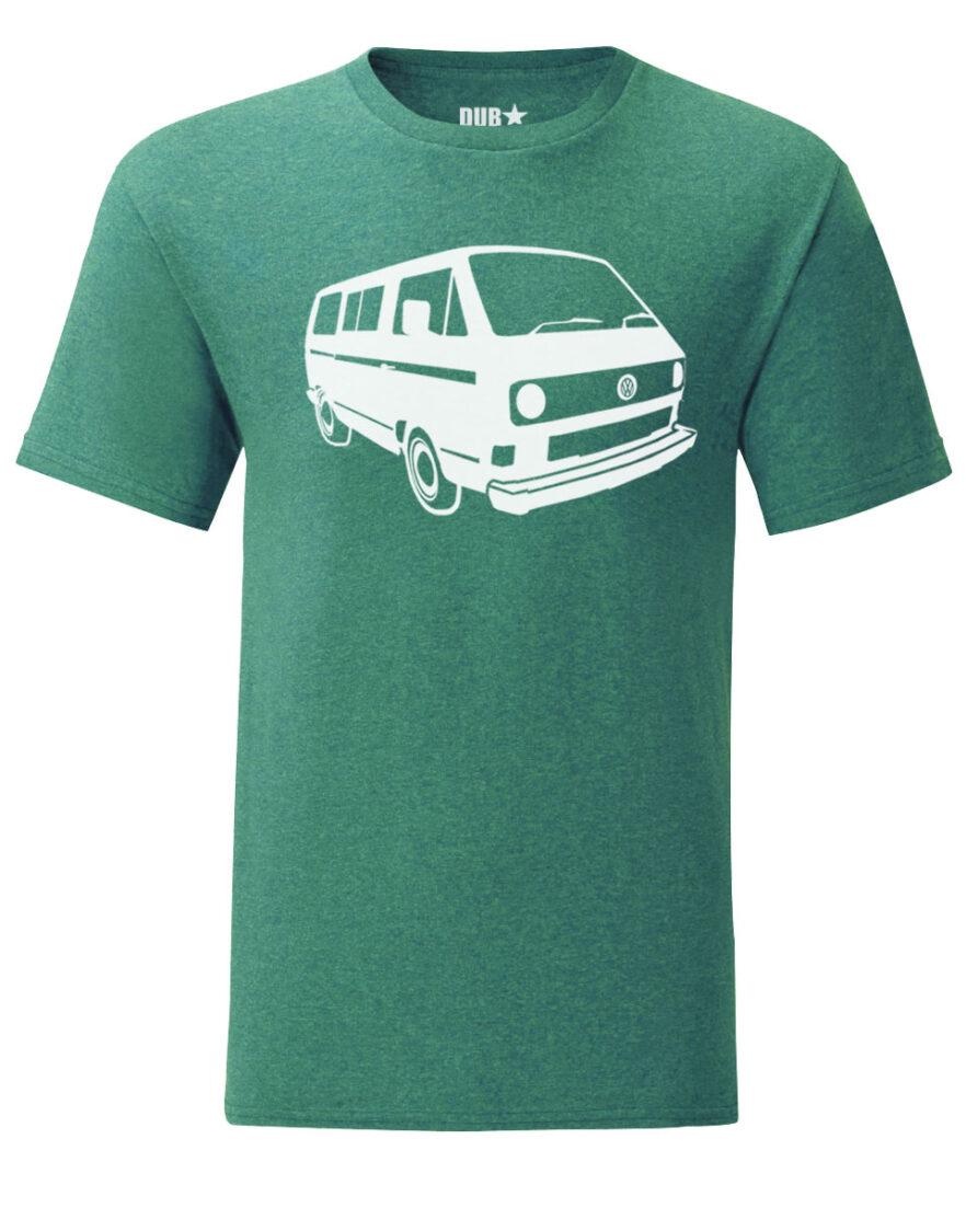 vw t3 tee - heather green