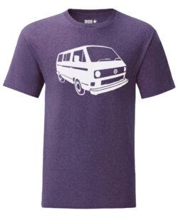 vw t3 tee - heather purple
