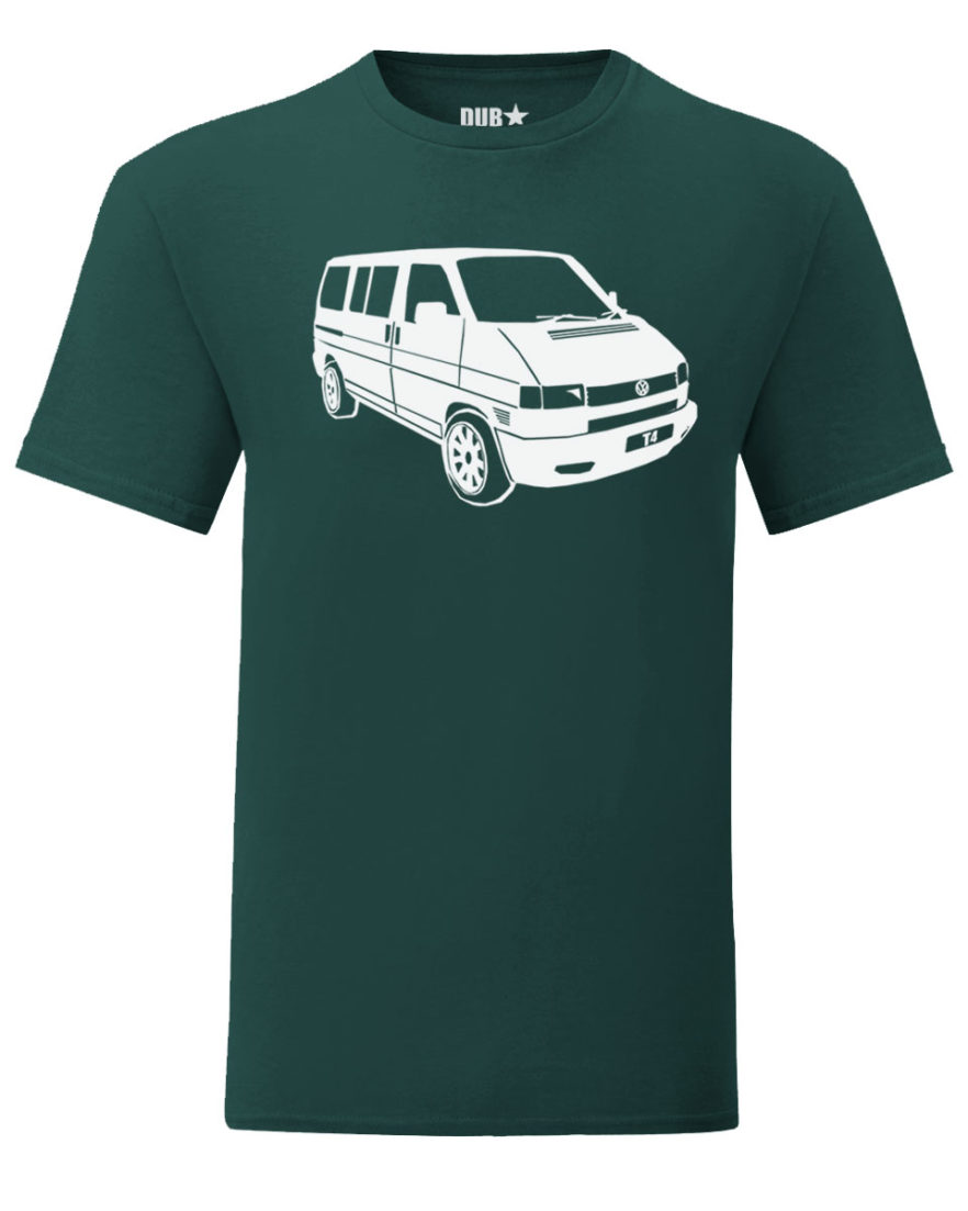vw t4 tee - dark green