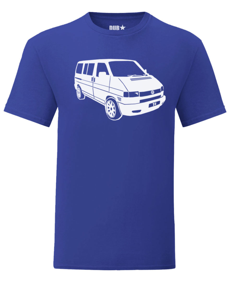 vw t4 tee - royal blue