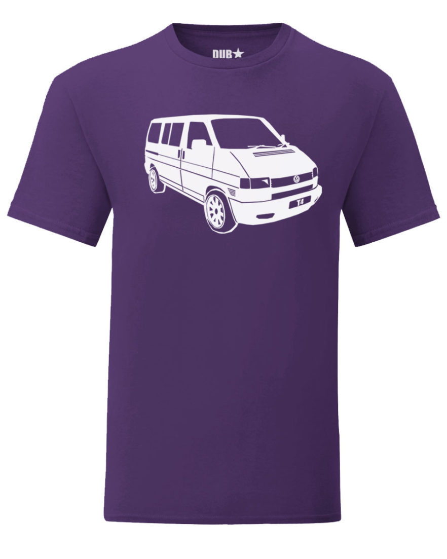 vw t4 tee - purple