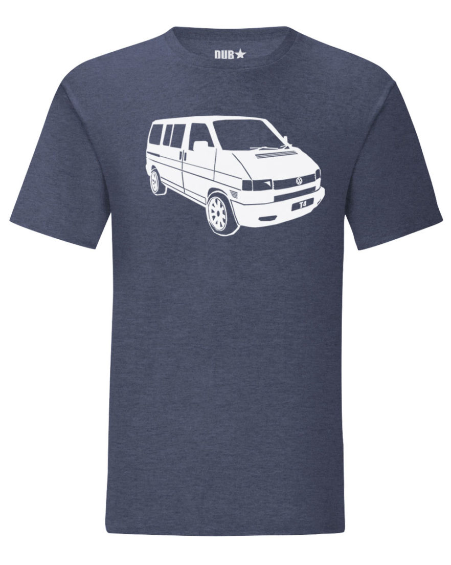 vw t4 tee - heather navy