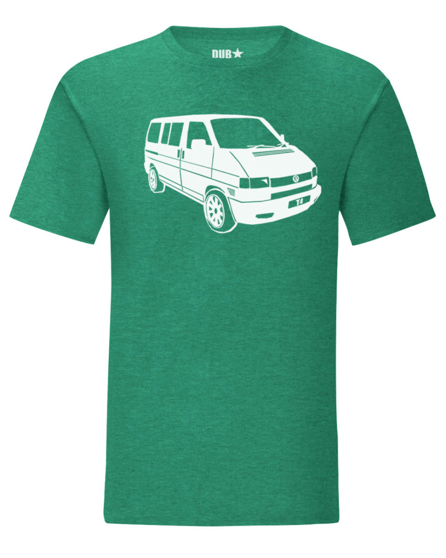 vw t4 tee - heather green