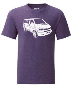 vw t4 tee - heather purple
