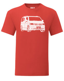 vw t5 tee - red