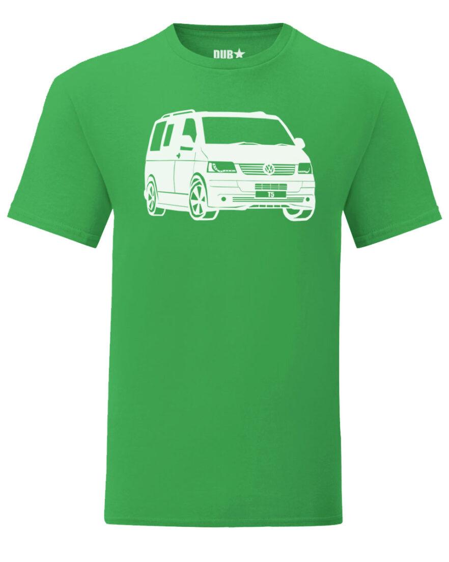 vw t5 tee - green