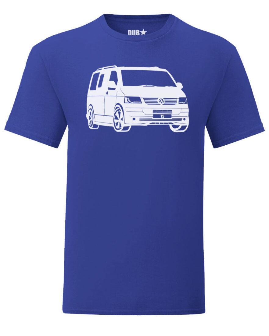 vw t5 tee - royal blue