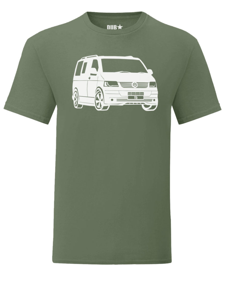 vw t5 tee - army green
