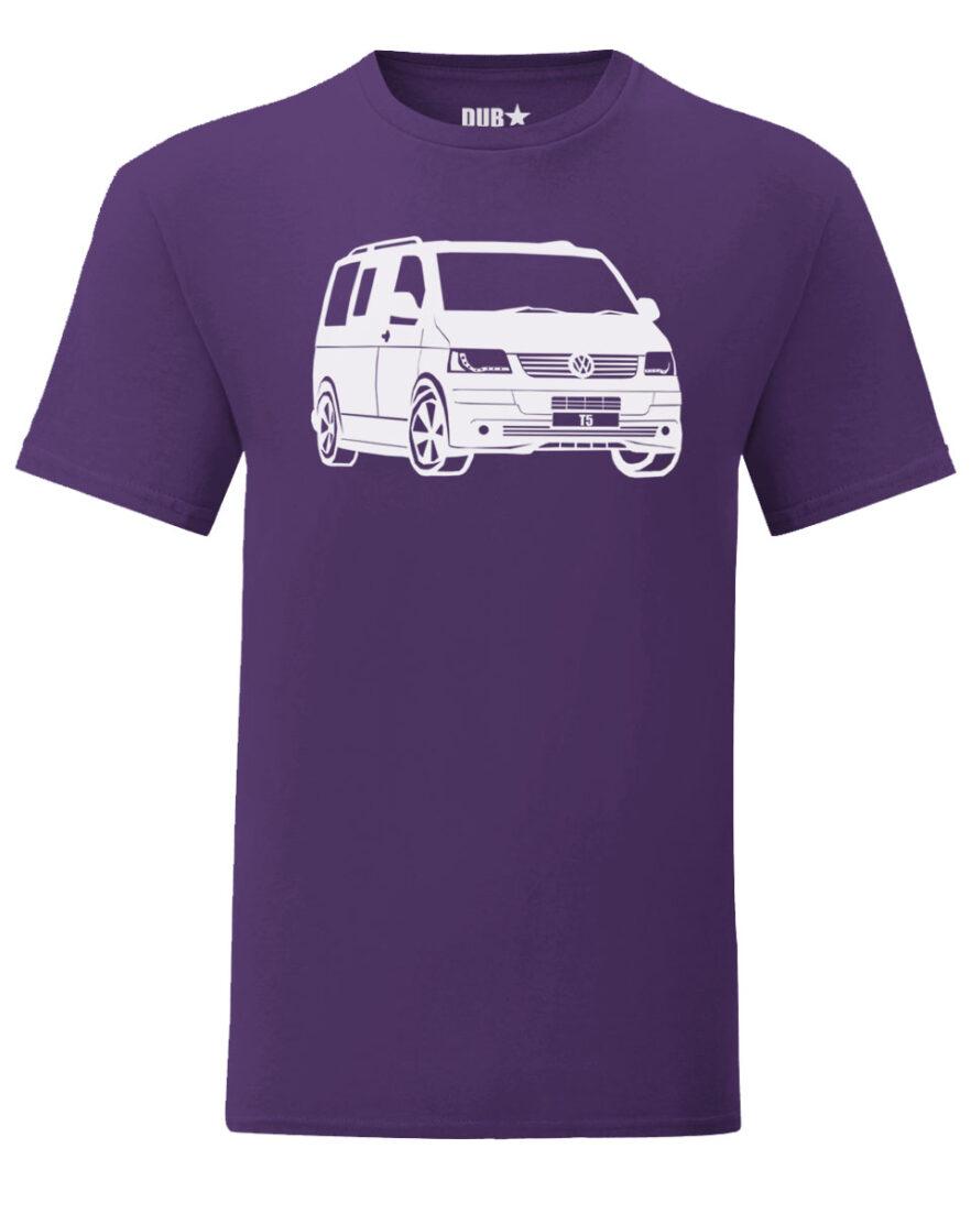 vw t5 tee - purple