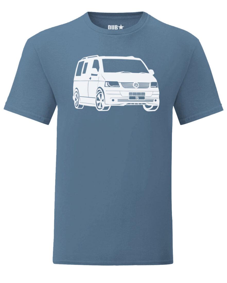 vw t5 tee - indigo blue