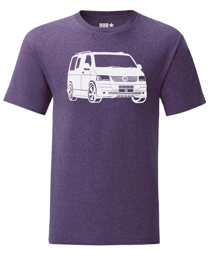 vw t5 tee - heather purple