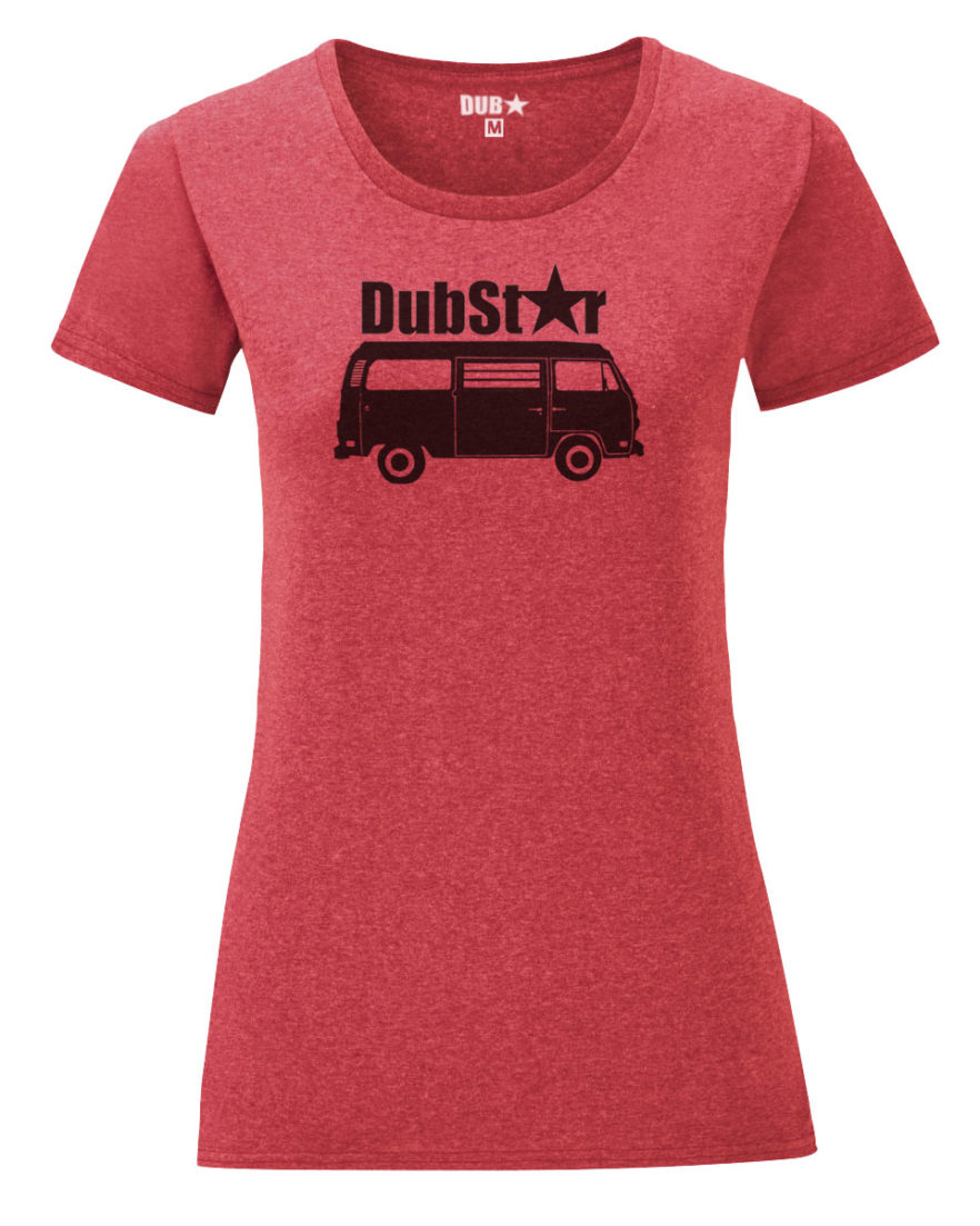 VW T2 ladyfit tee - heather red