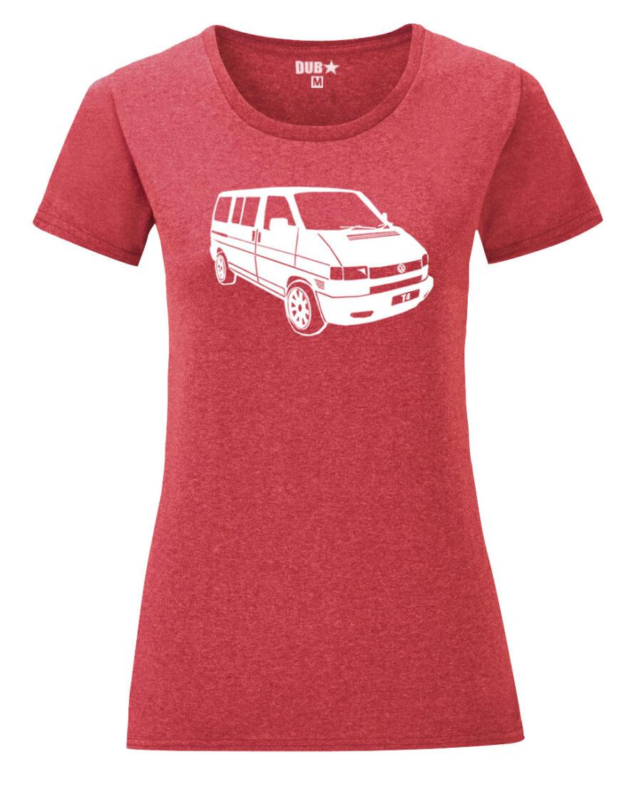 VW T4 ladyfit - heather red