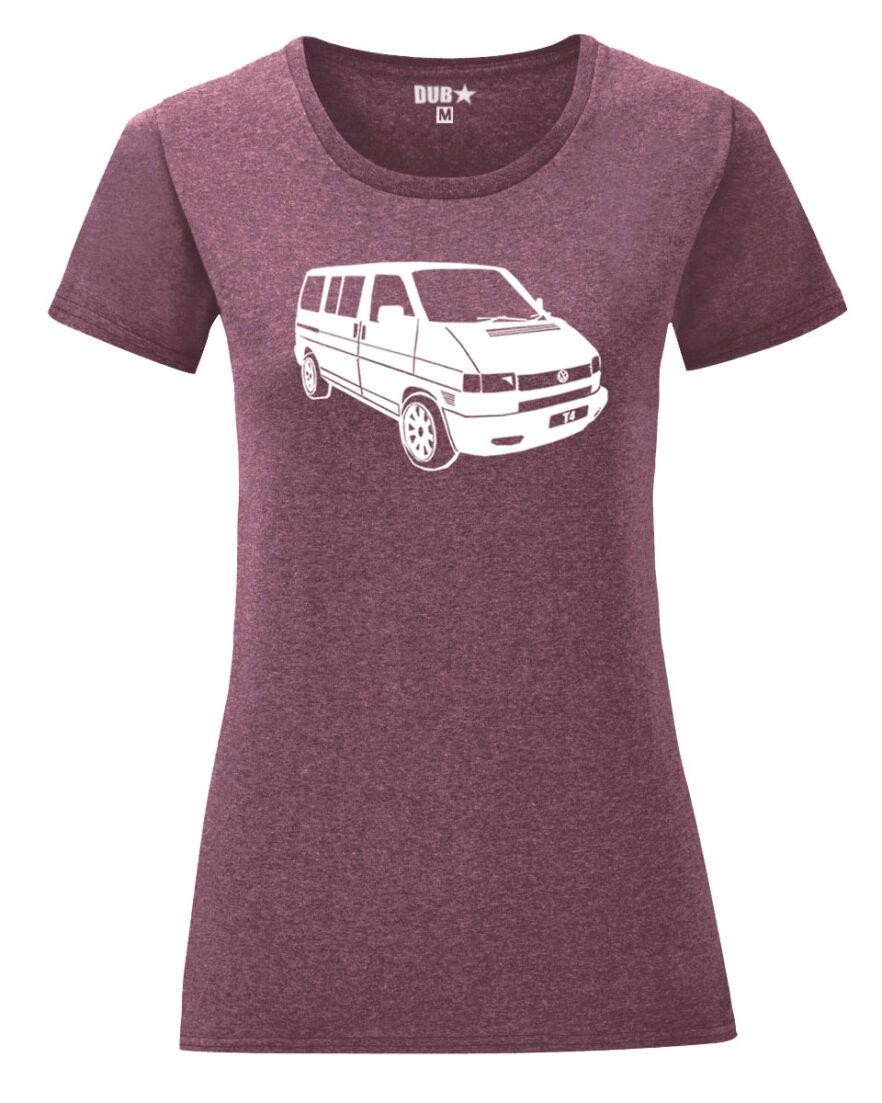 VW T4 ladyfit - heather maroon