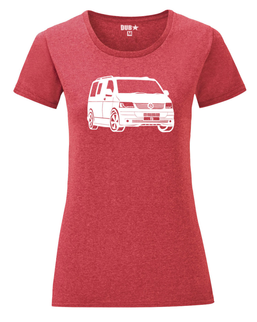 VW T5 ladyfit - heather red