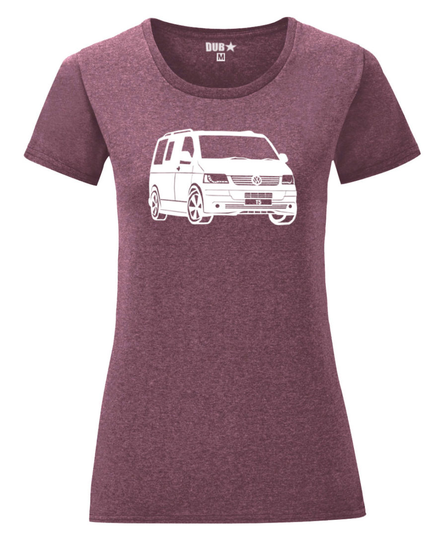 VW T5 ladyfit - heather maroon