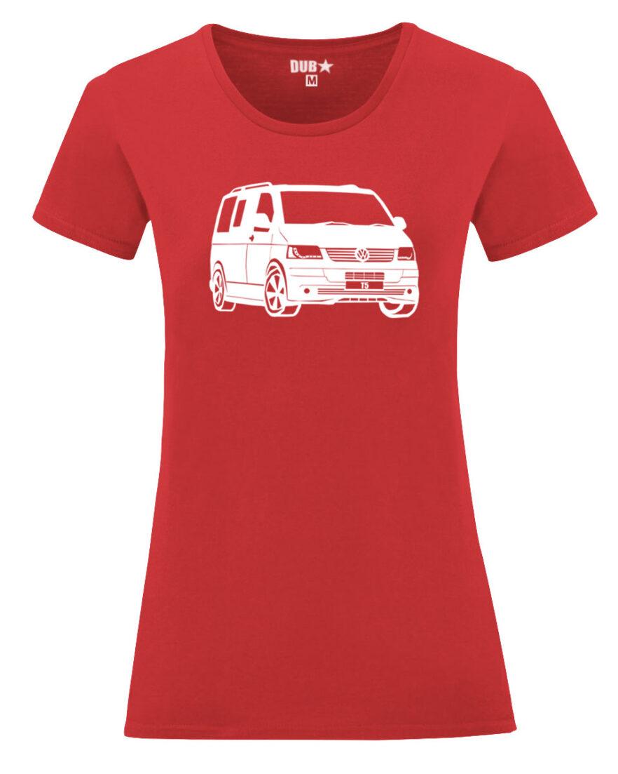 VW T5 ladyfit - red