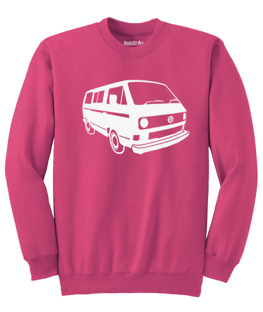 VW T3 Sweater - heliconia pink