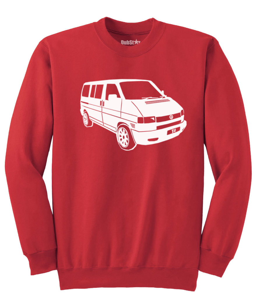 VW T4 Sweater - red