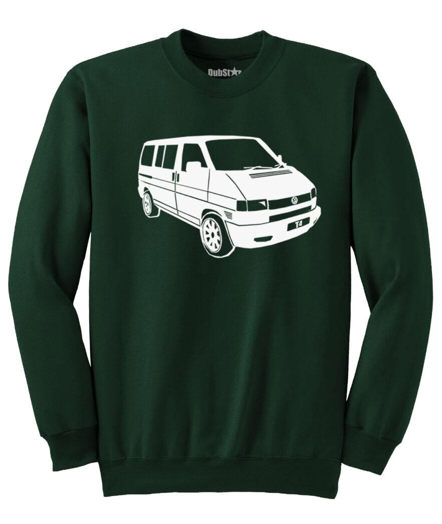 VW T4 Sweater - dark green