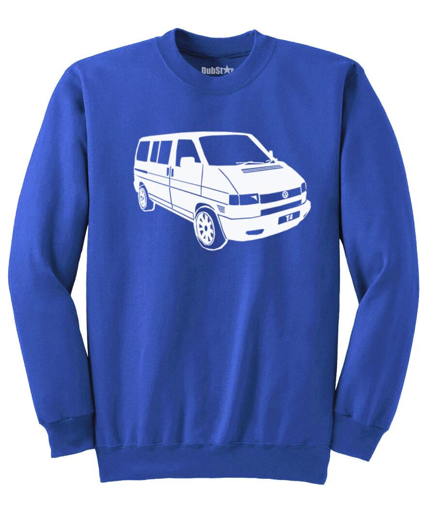 VW T4 Sweater - royal blue