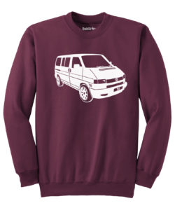 VW T4 Sweater - maroon