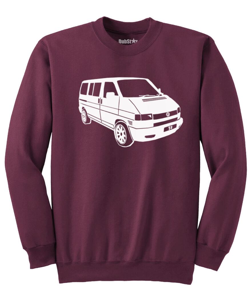 VW T4 Sweater - maroon