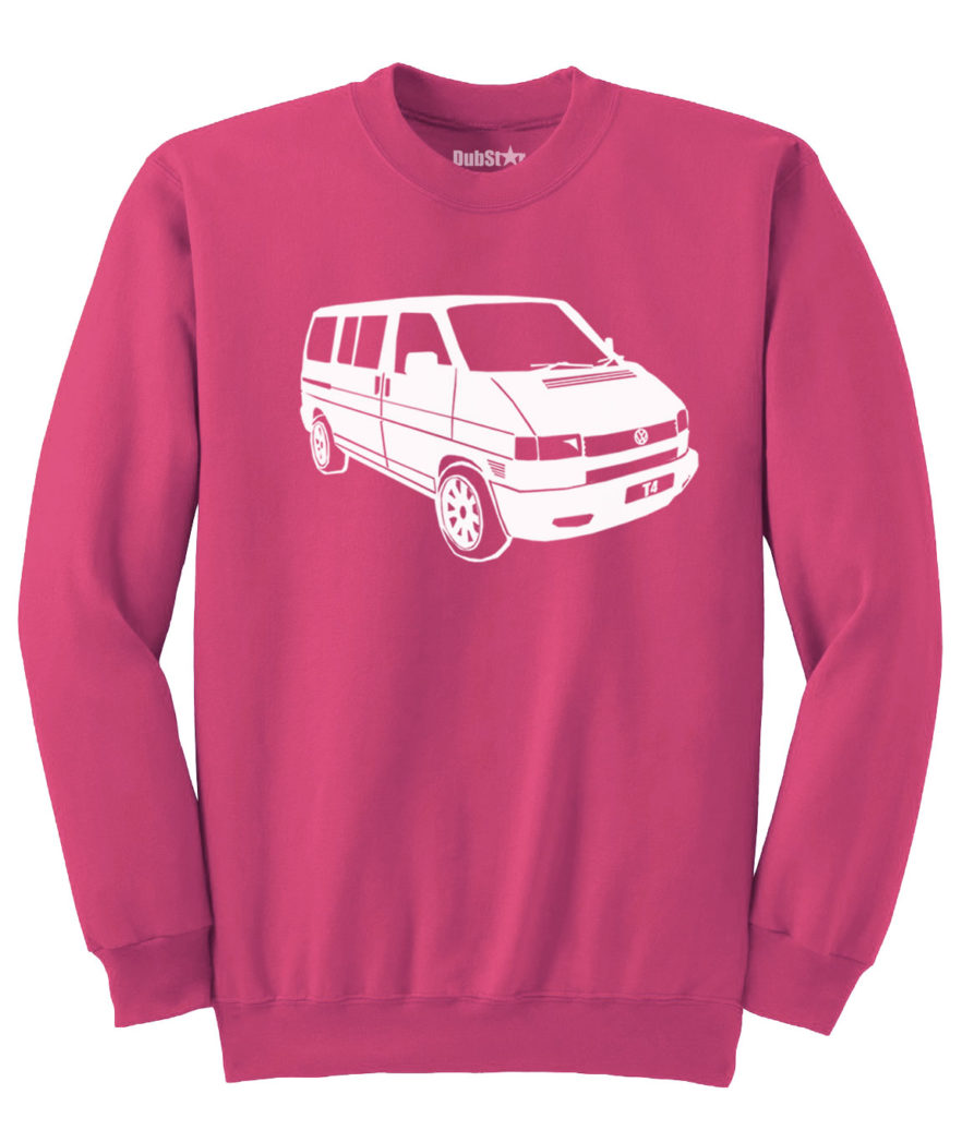 VW T4 Sweater - heliconia pink