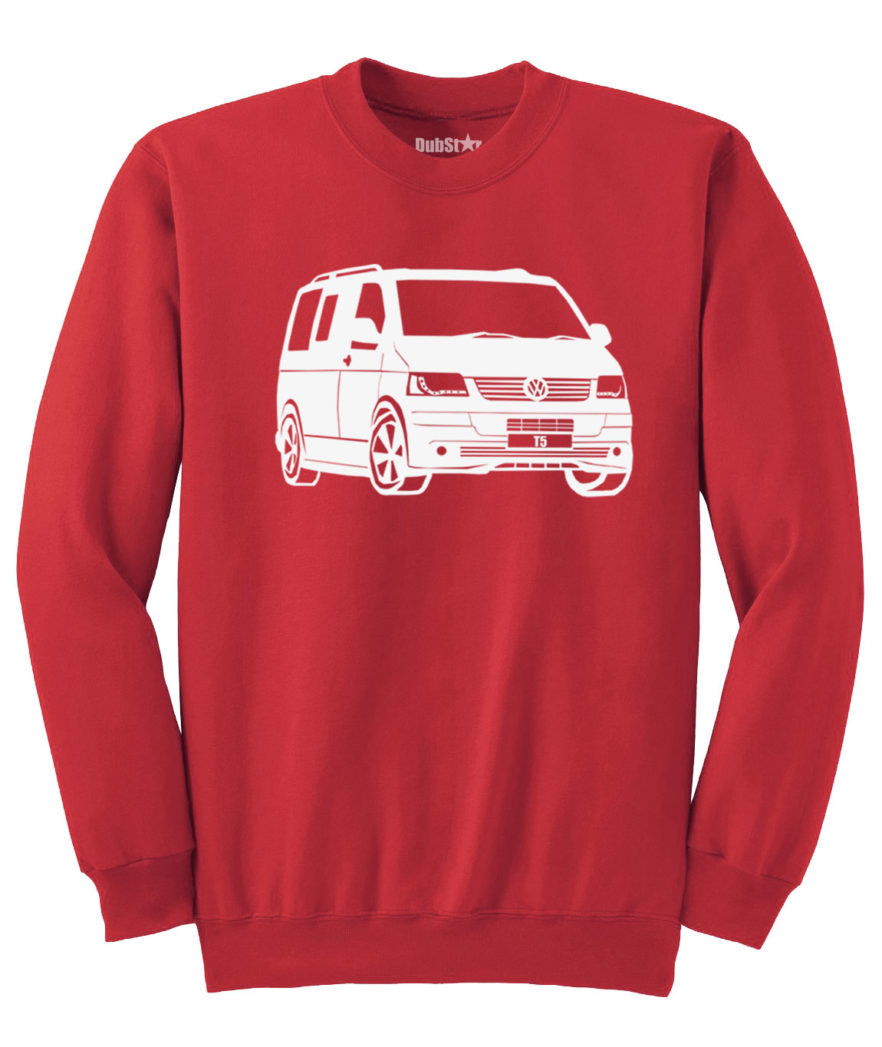 VW T5 Sweater - red