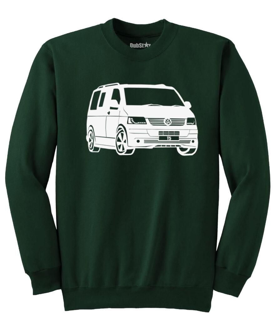 VW T5 Sweater - dark green
