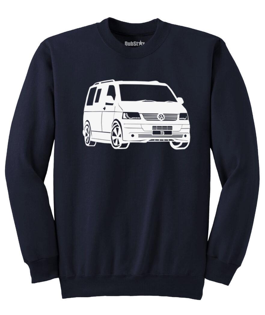 VW T5 Sweater - navy blue