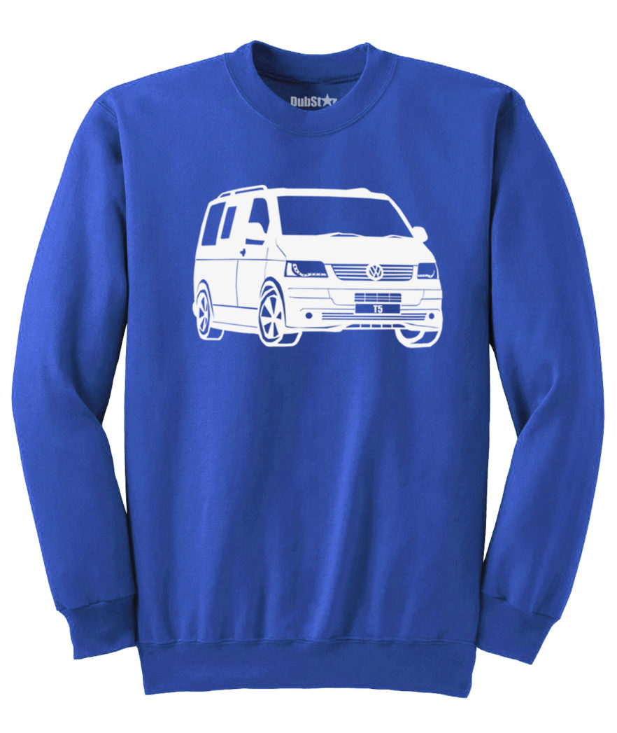 VW T5 Sweater - royal blue
