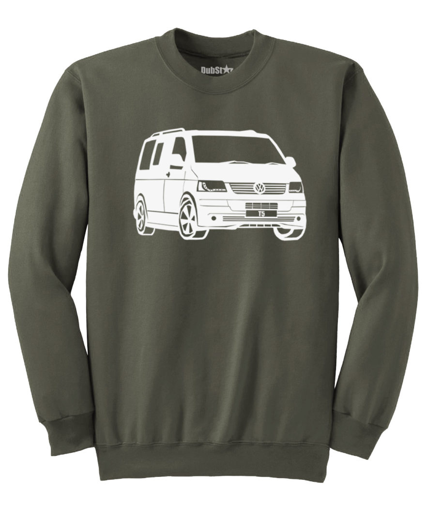 VW T5 Sweater - army green