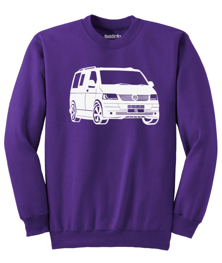 VW T5 Sweater - purple