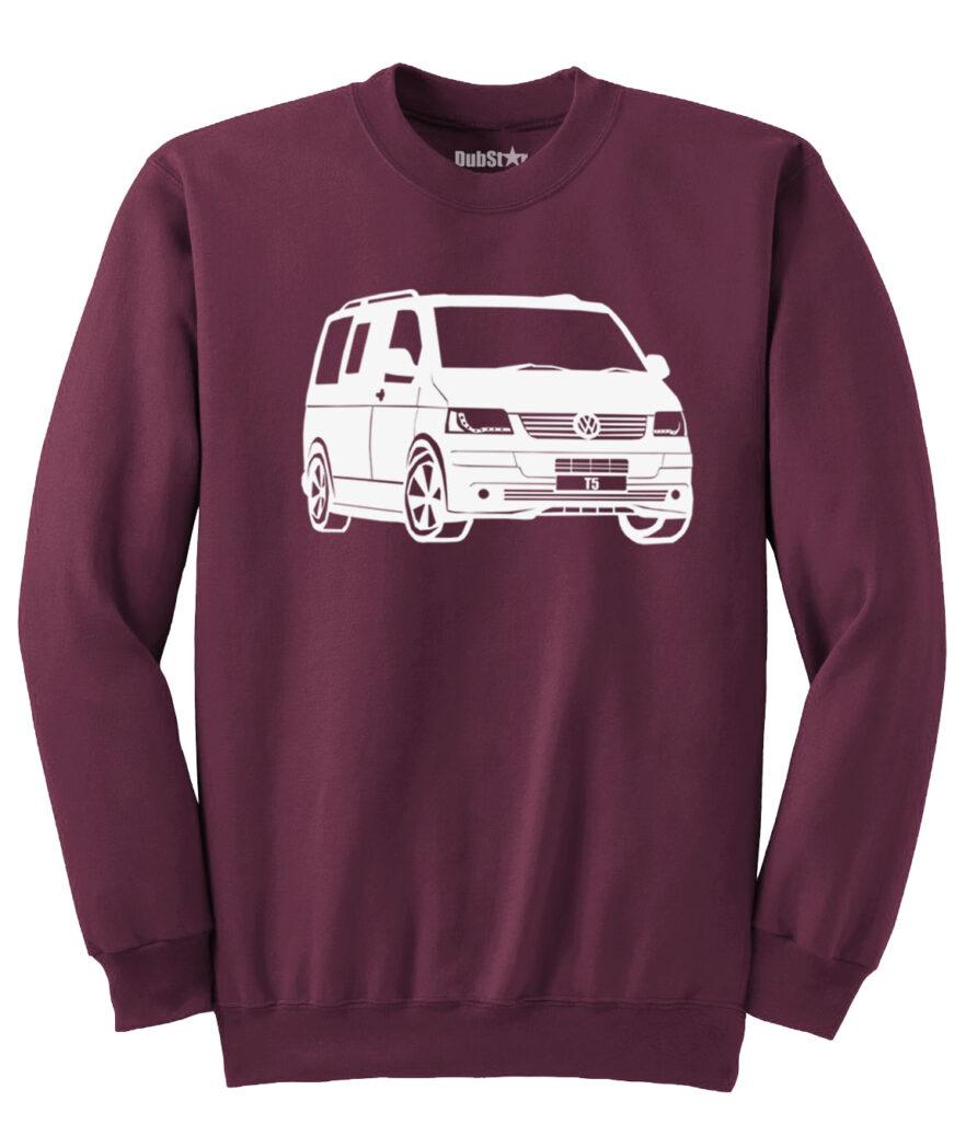 VW T5 Sweater - maroon
