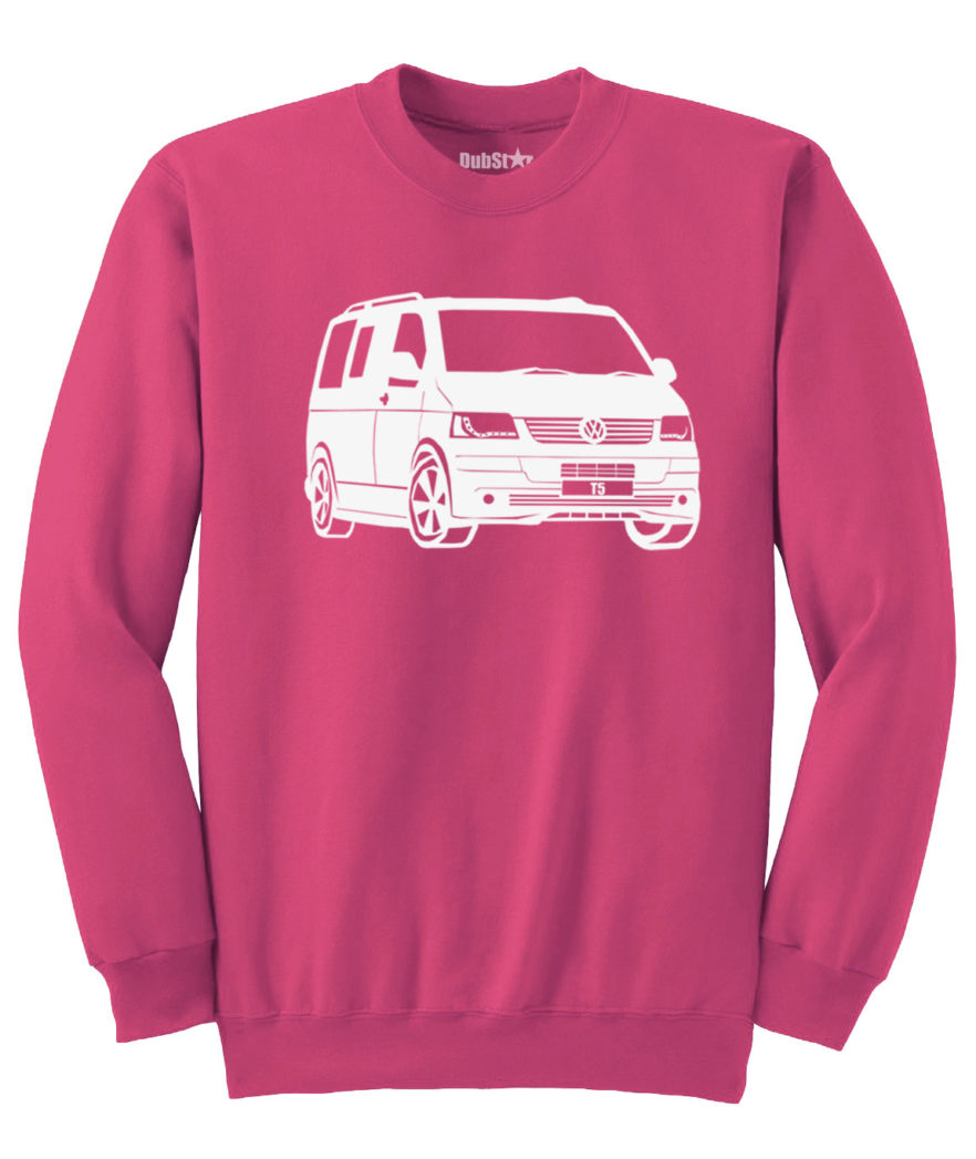 VW T5 Sweater - heliconia pink