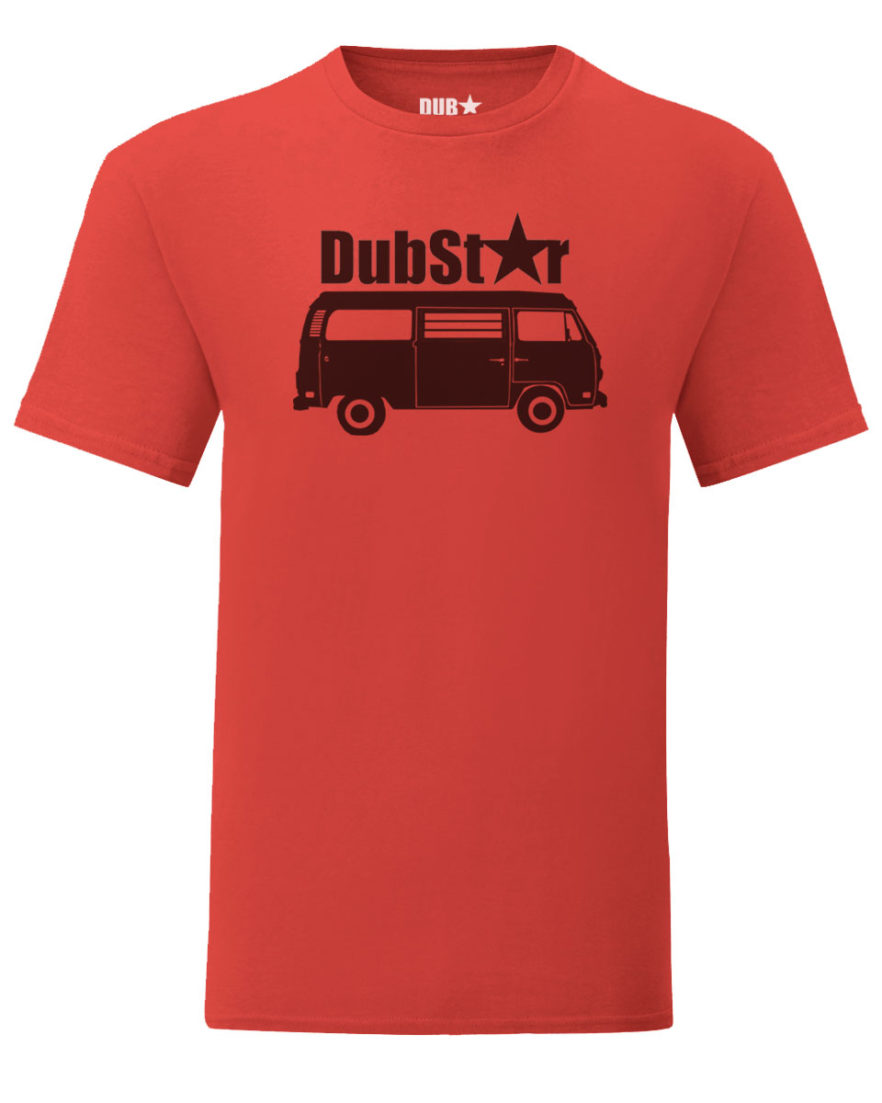 vw t2 tee - red