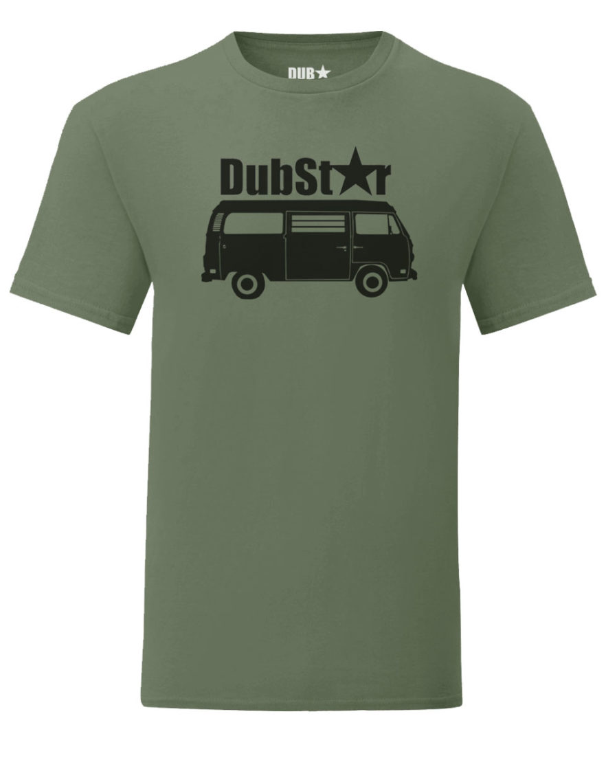 vw t2 tee - army green