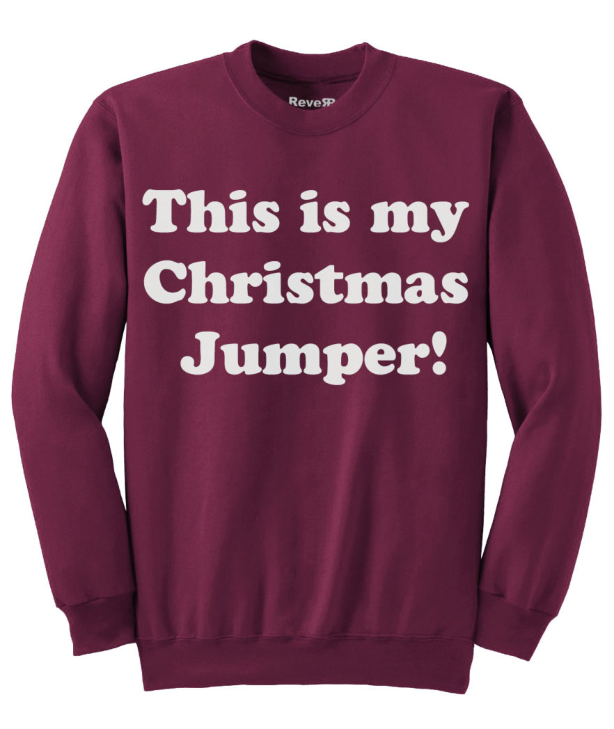 My Christmas Jumper - Maroon