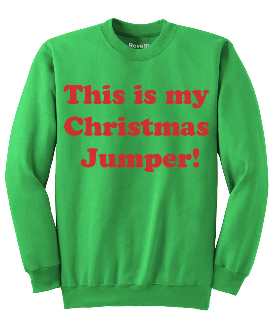 My Christmas Jumper - Green red