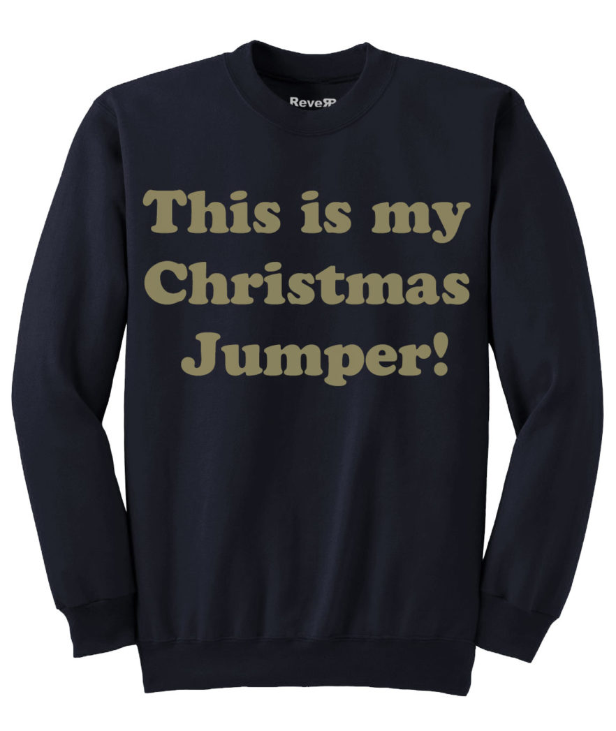 My Christmas Jumper - Navy Gold
